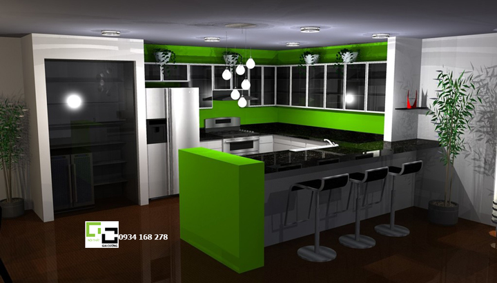 Tủ bếp chữ U 24
