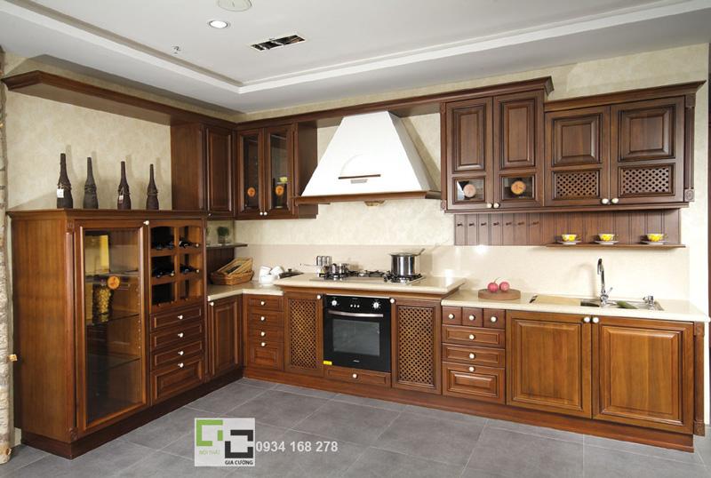 Tủ bếp gỗ tự nhiên 03