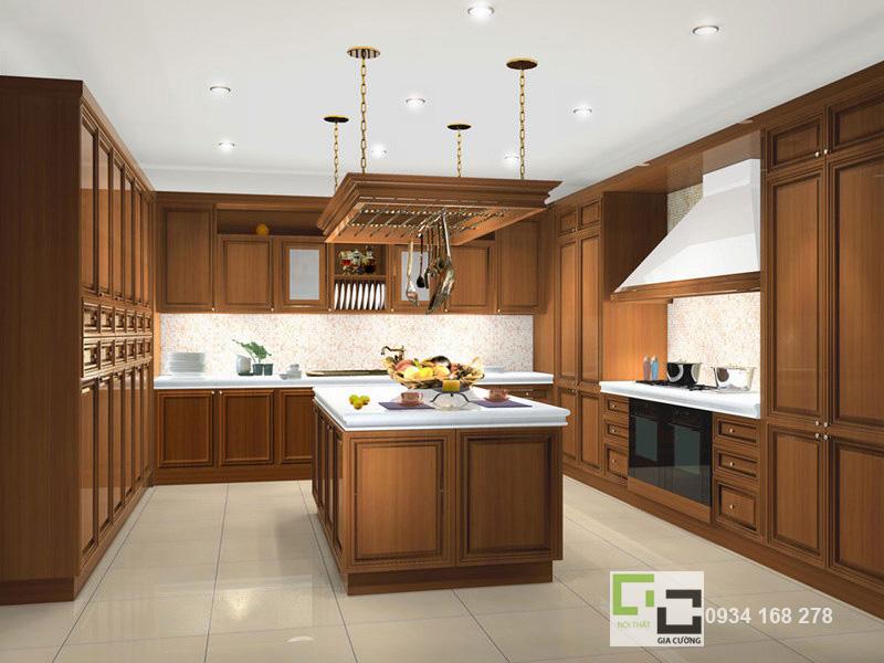 Tủ bếp gỗ tự nhiên 05