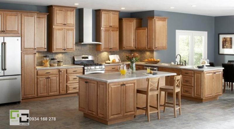Tủ bếp gỗ tự nhiên 06