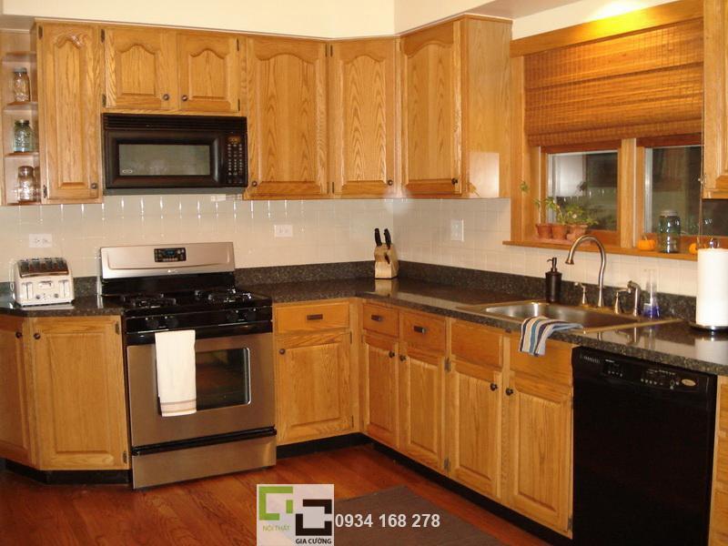 Tủ bếp gỗ tự nhiên 08