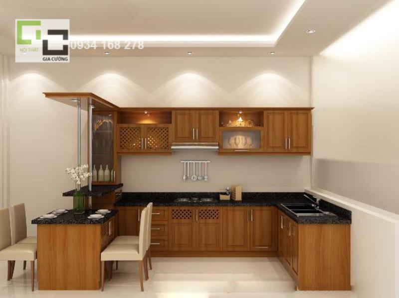 Tủ bếp gỗ tự nhiên 09