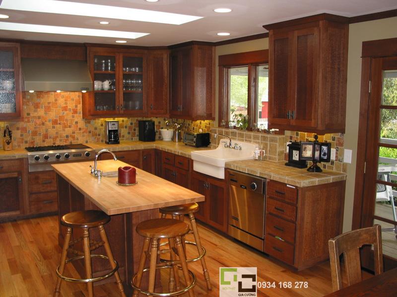 Tủ bếp gỗ tự nhiên 14