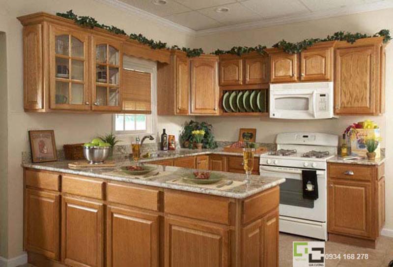 Tủ bếp gỗ tự nhiên 16
