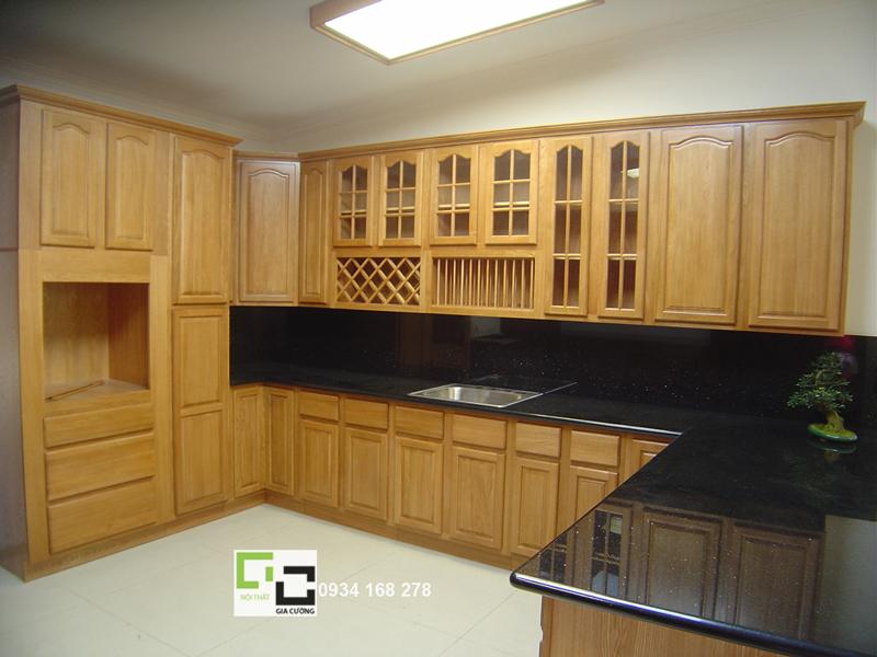 Tủ bếp gỗ tự nhiên 17