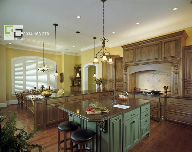 Tủ bếp gỗ tự nhiên 18