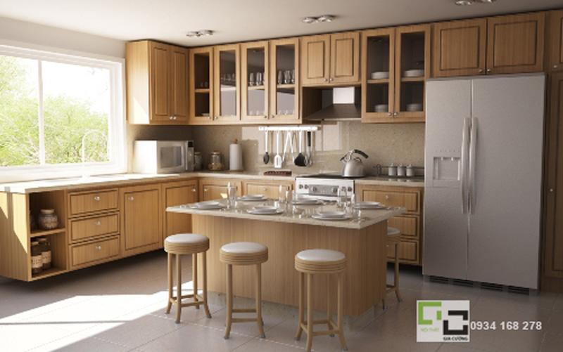 Tủ bếp gỗ tự nhiên 22