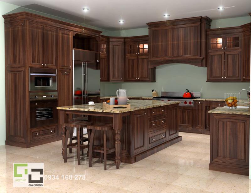Tủ bếp gỗ tự nhiên 23