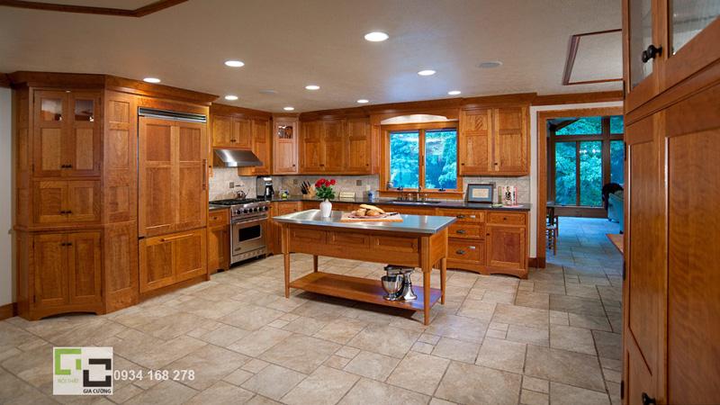 Tủ bếp gỗ xoan đào 09