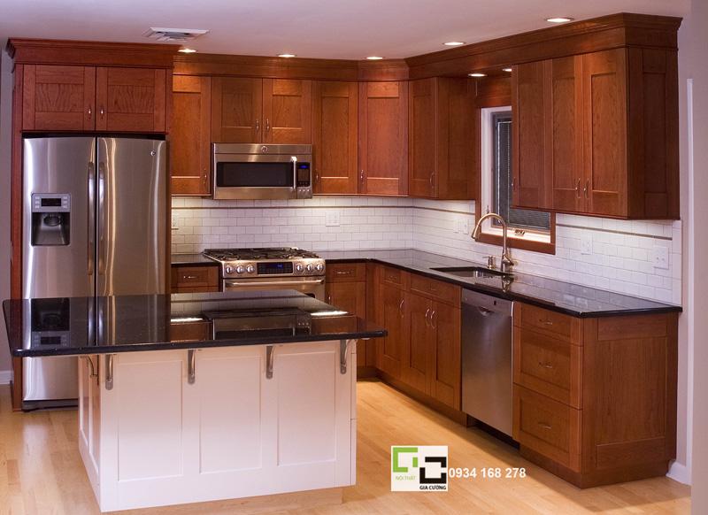 Tủ bếp gỗ xoan đào 08