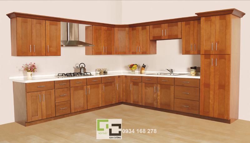 Tủ bếp gỗ căm xe 02