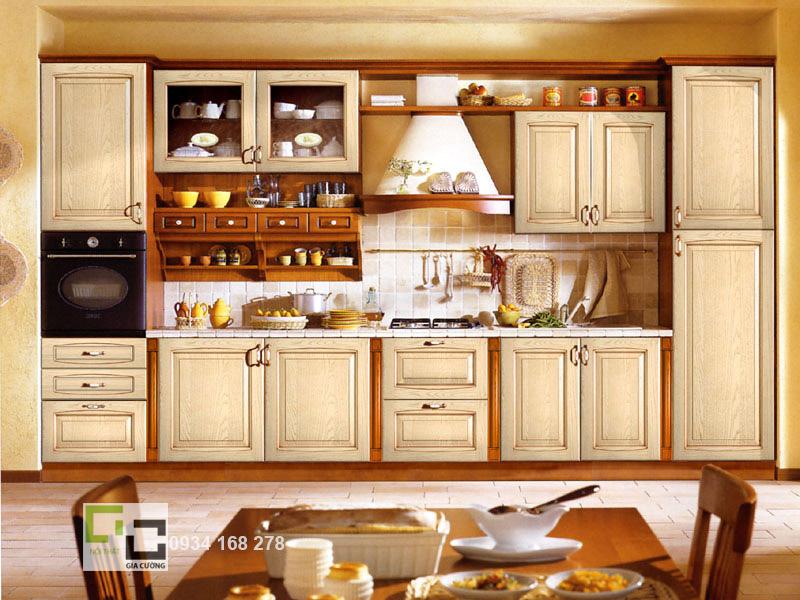 Tủ bếp gỗ xoan đào 06