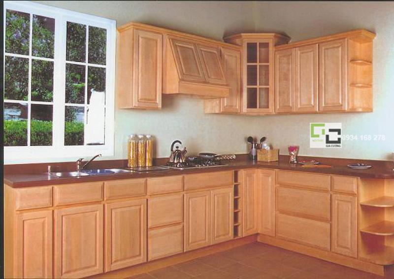 Tủ bếp gỗ sồi 03