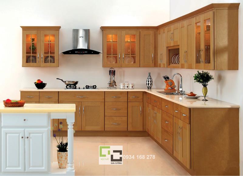 Tủ bếp gỗ xoan đào 05