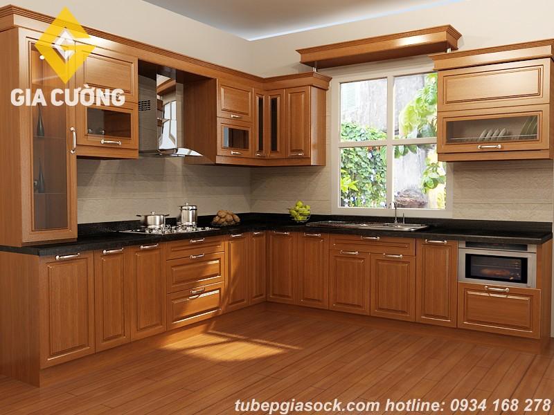 Tổng hợp mẫu bếp gỗ tự nhiên đẹp