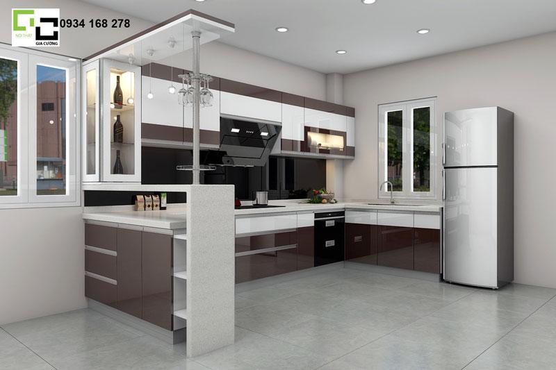 Tủ bếp hiện đại số 1