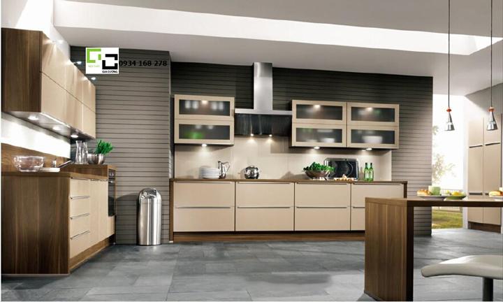 Tủ bếp laminate hiện đại 01