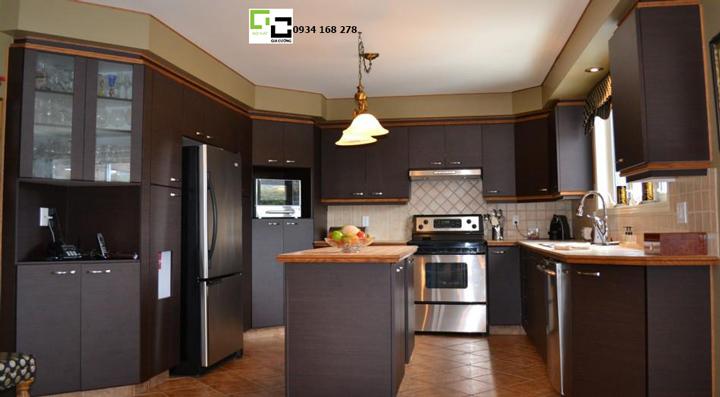 Tủ bếp laminate hiện đại 02
