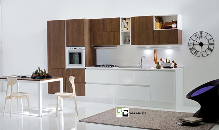Tủ bếp laminate hiện đại 03