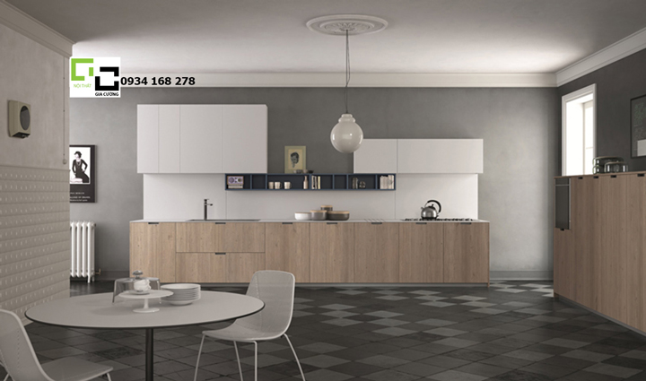 Tủ bếp laminate hiện đại 04