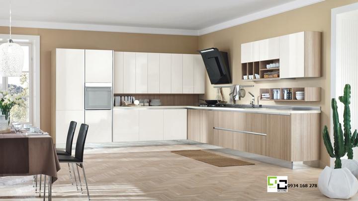 Tủ bếp laminate hiện đại 06