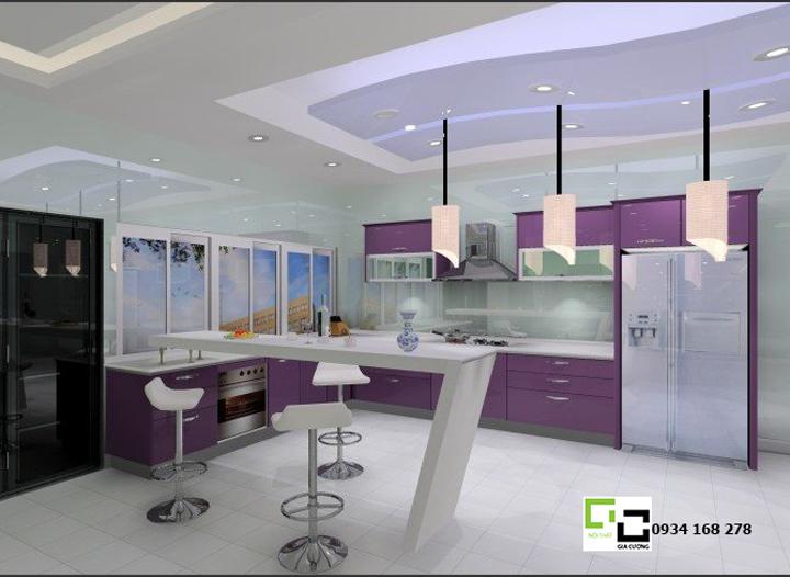 Tủ bếp acrylic hiện đại 25