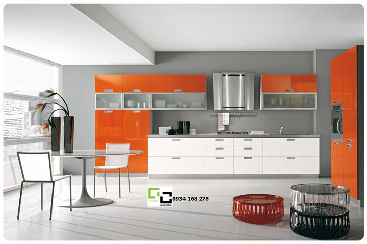 Tủ bếp laminate hiện đại 25