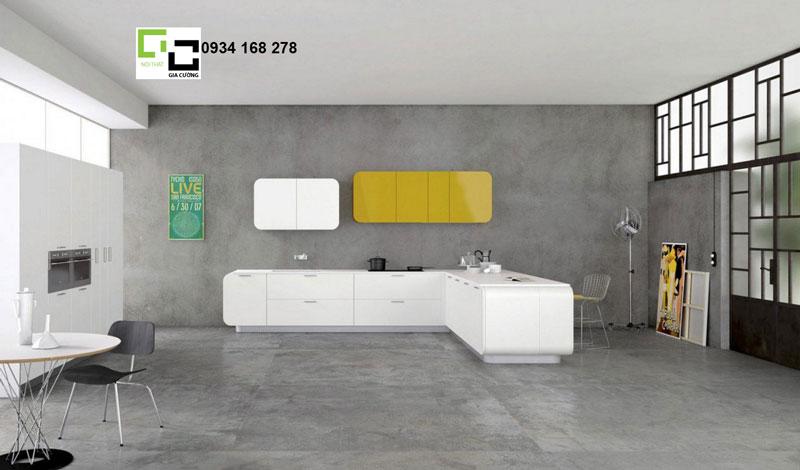 Tủ bếp hiện đại với thiết kế ấn tượng