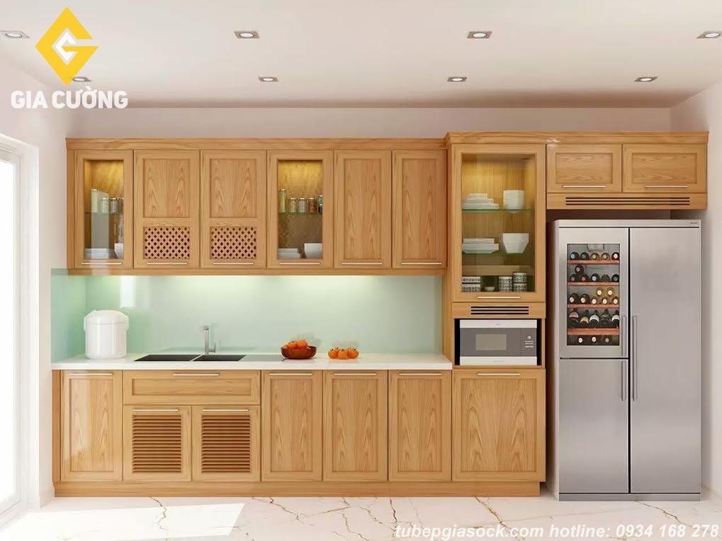 Tủ bếp gỗ sồi GC/ 105