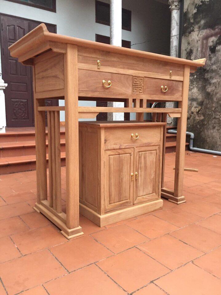 Tủ thờ gỗ sồi mỹ
