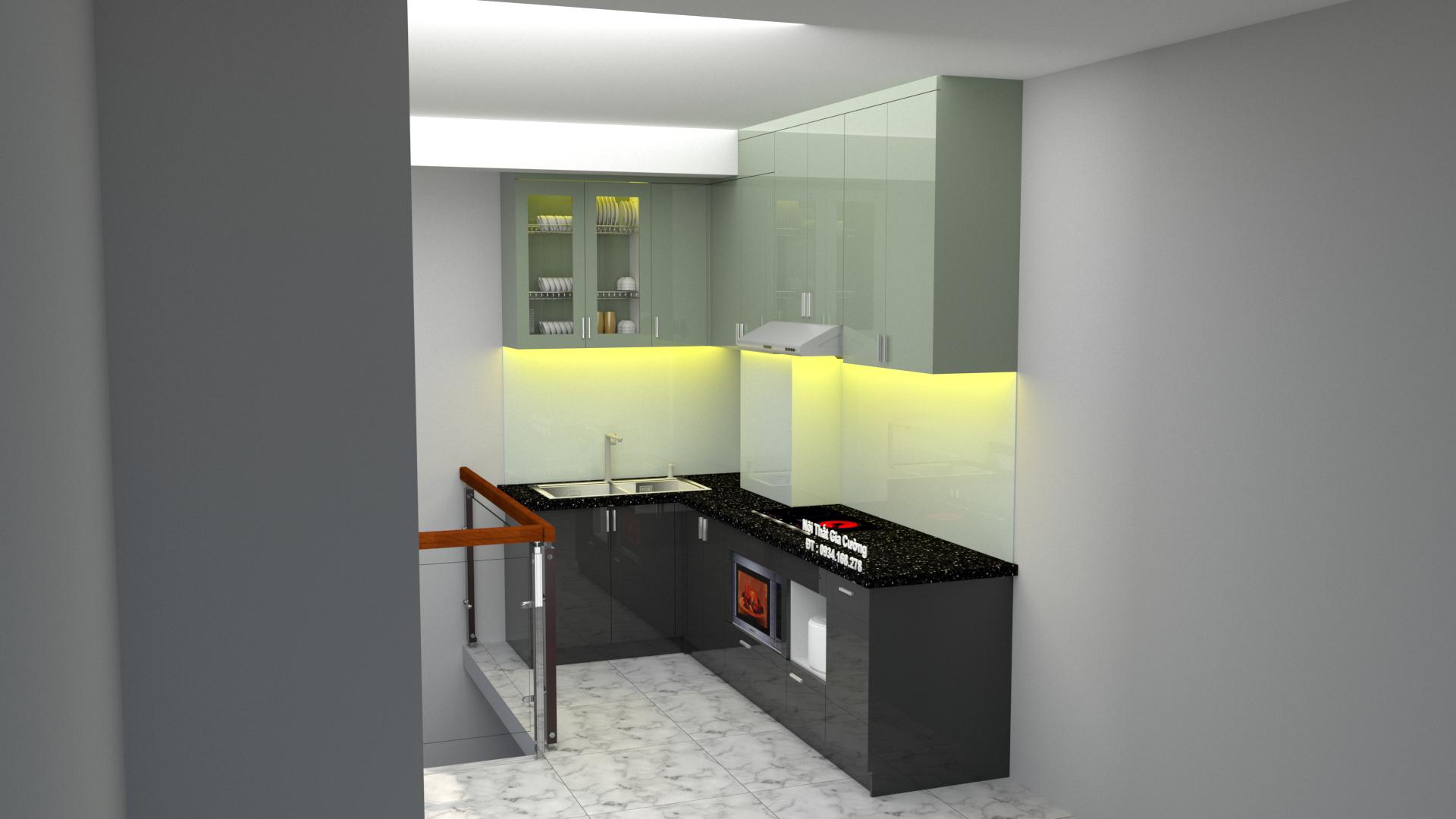 Tủ bếp Acrylic nhà chị tâm quận 3
