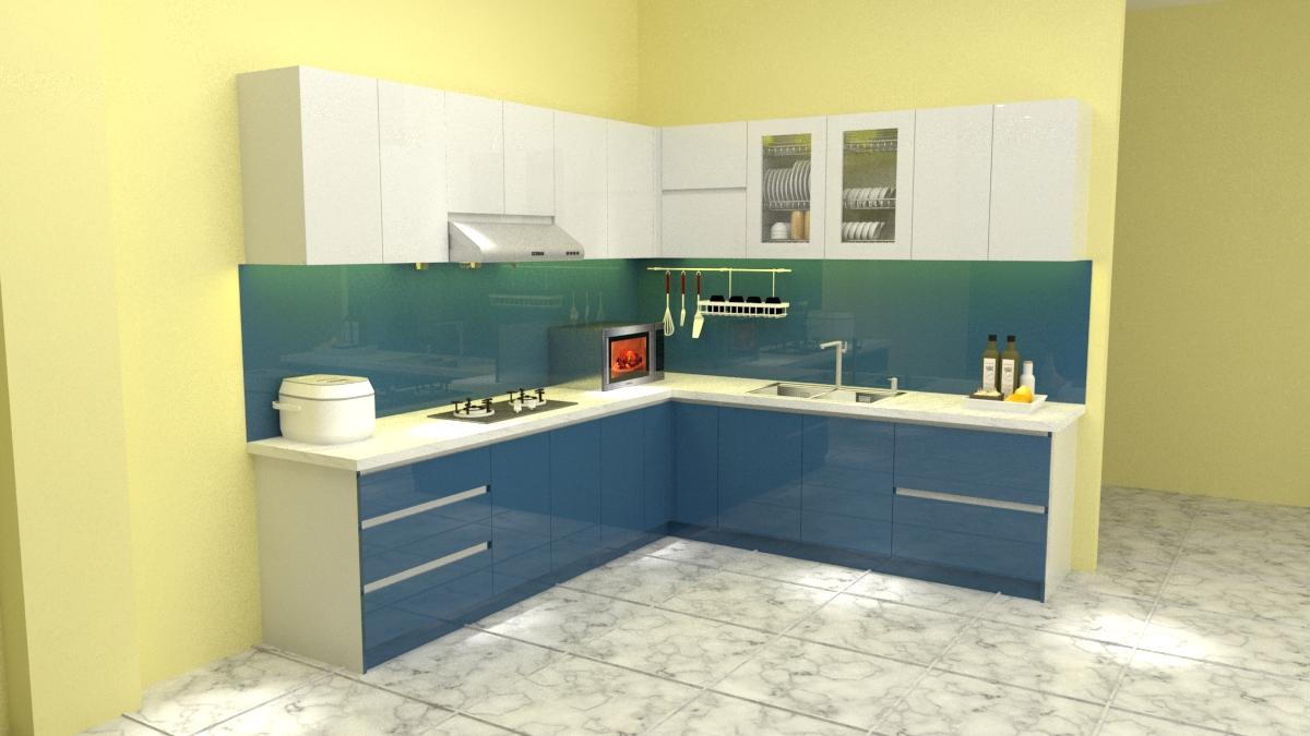 Tủ bếp acrylic nhà chị hoài quận 7